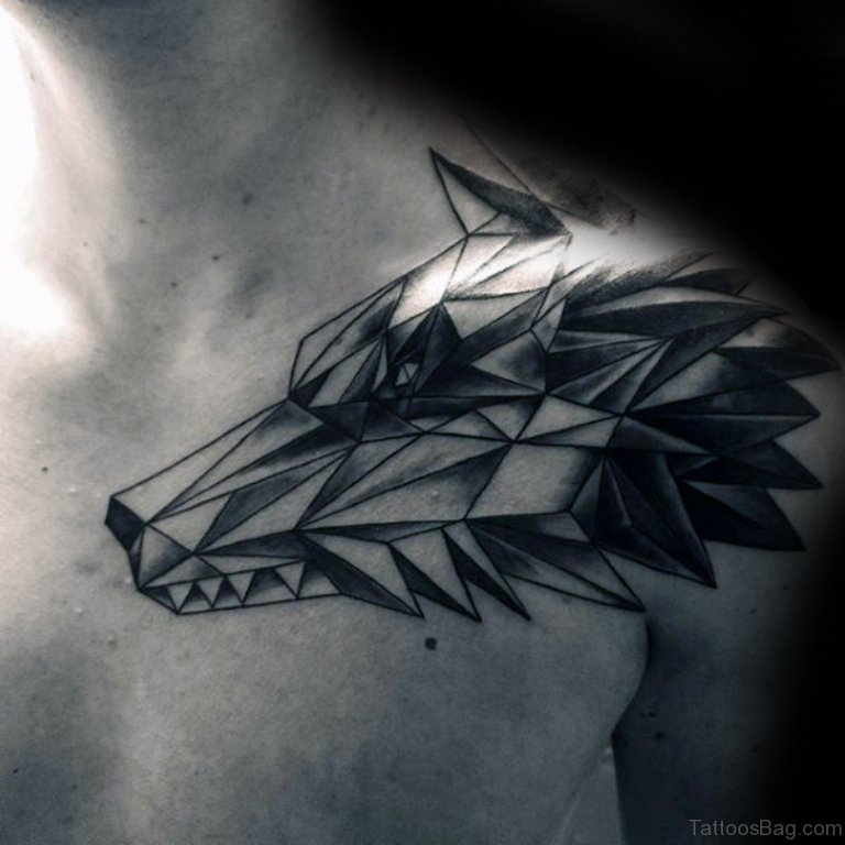 Black Wolf Tattoo Shoulder