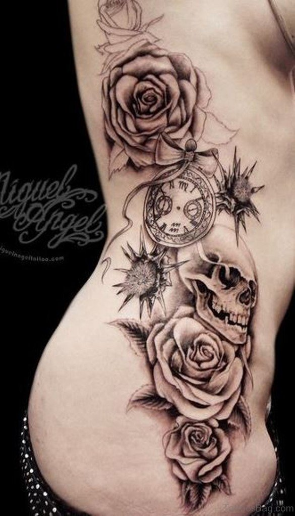 59 Fabulous Skull Tattoos For Rib