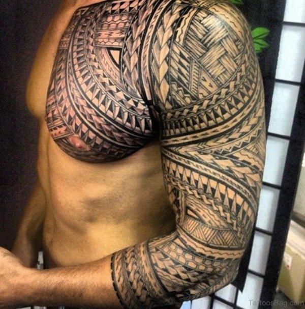 stylish tribal tattoos chest