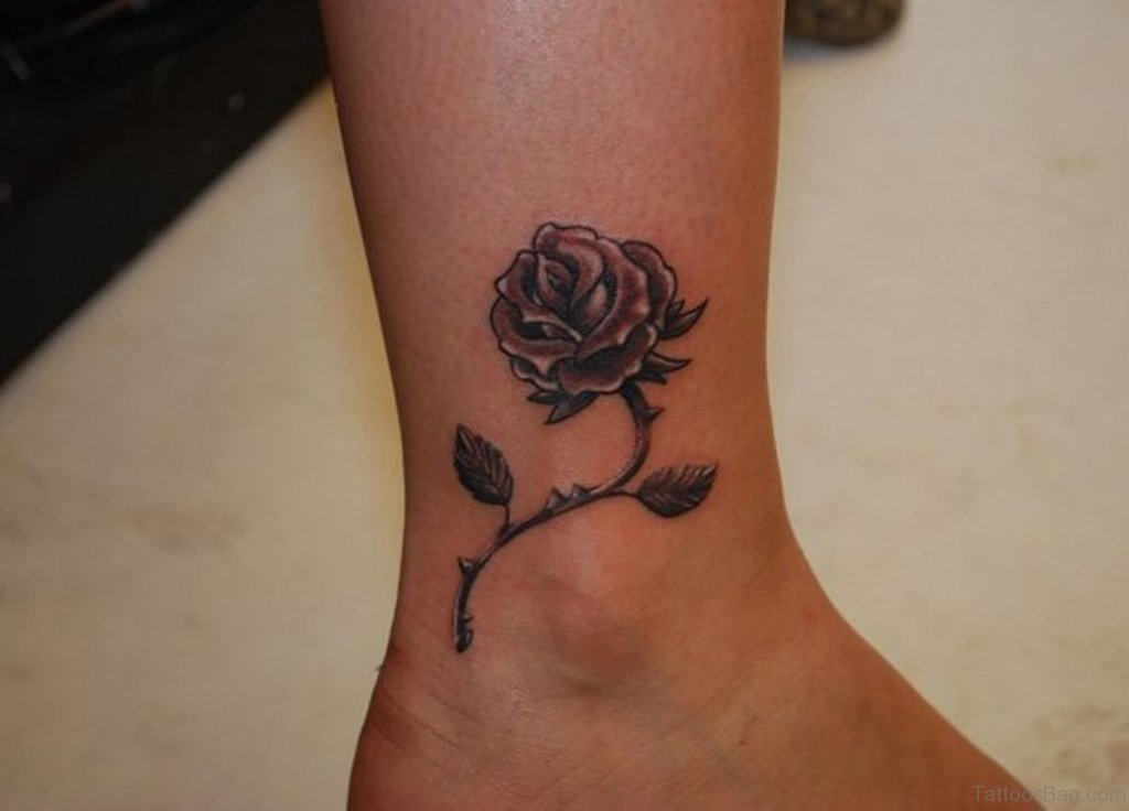 Roses Ankle Tattoo
