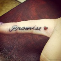 54 Likeable Promise Finger Tattoos