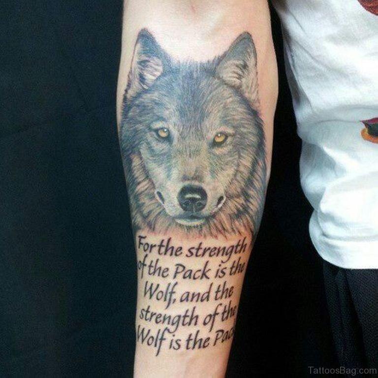 Alpha Male Lone Wolf Wolf Tattoo