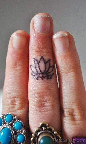 Lotus Finger Tattoo