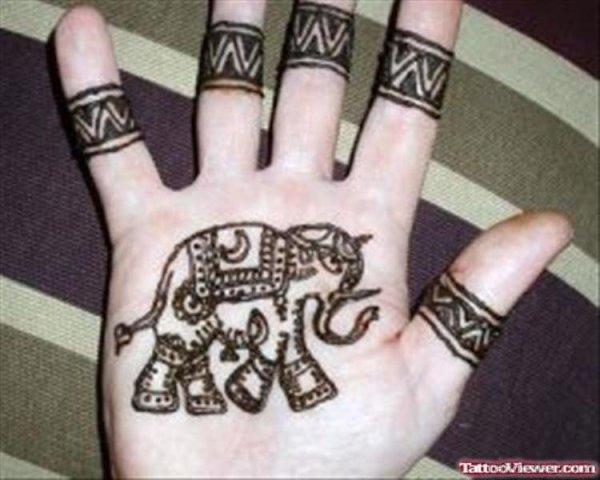 20 Elephant Purple Henna Inspired Tattoos Ideas And Designs