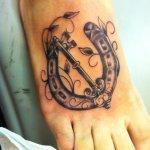 36 Elegant Key Tattoos On Foot
