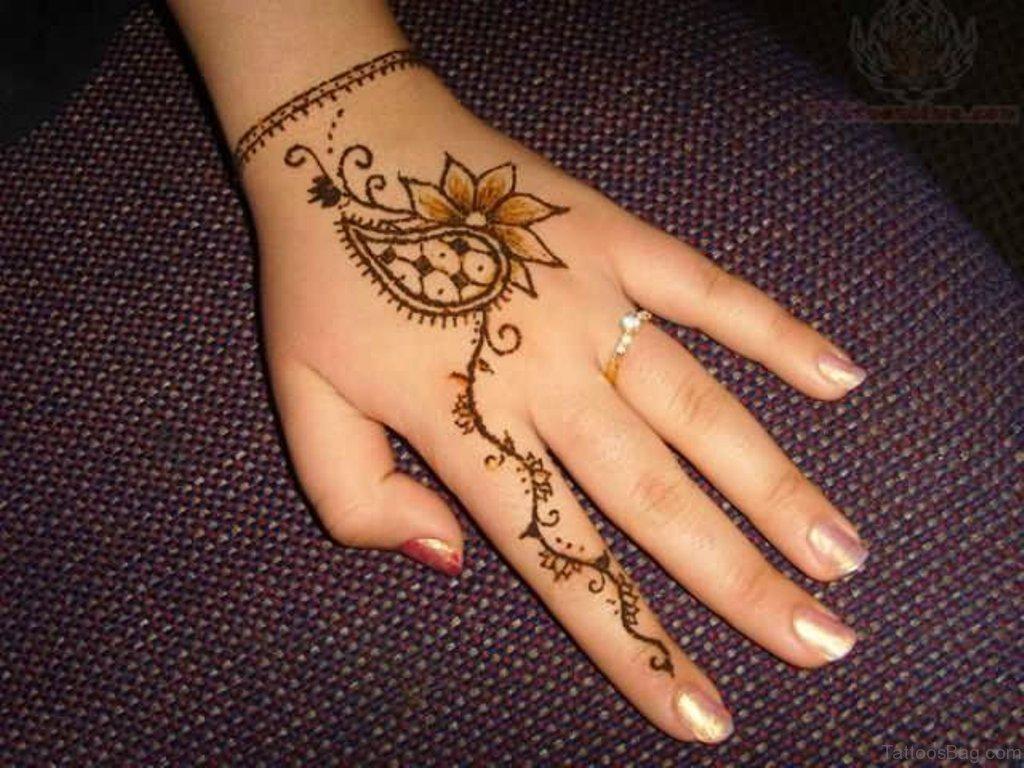 Small Lotus Flower Tattoo Finger