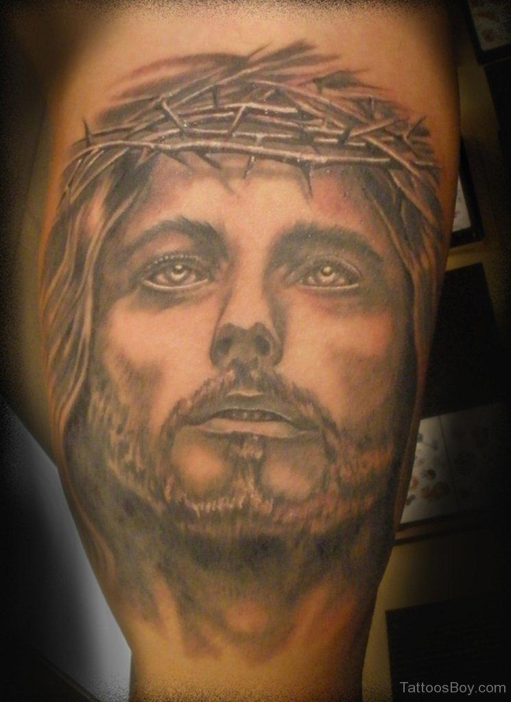 Jesus Christ Head Tattoo Design