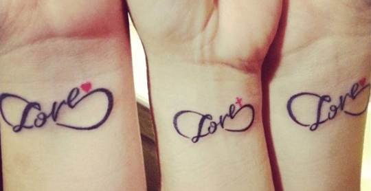 mother dauther tattoo infinity idea