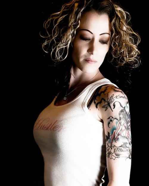 An elegant fairy half sleeve tattoo design