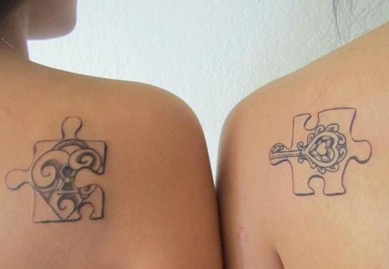 Mother-Daughter-Puzzle-Tattoo