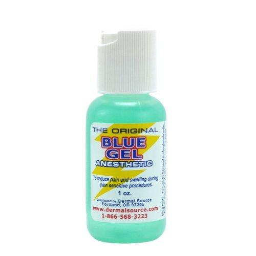Lidocaine Blue Gel Tattoo Numbing Topical Anesthetic Cream Gel - 1 oz
