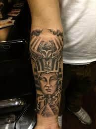 Ancient Egyptian Pharaoh Tattoo Design