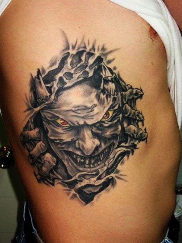 Ripped Skin Tattoo Template