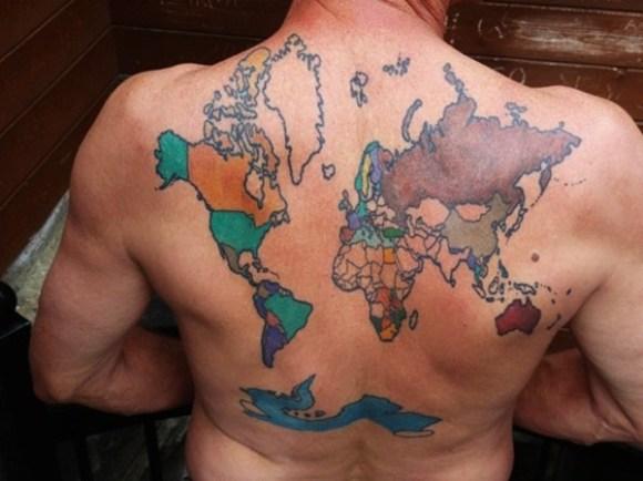 38 Best Smart Map Tattoo Design And Ideas - Tattoos Era