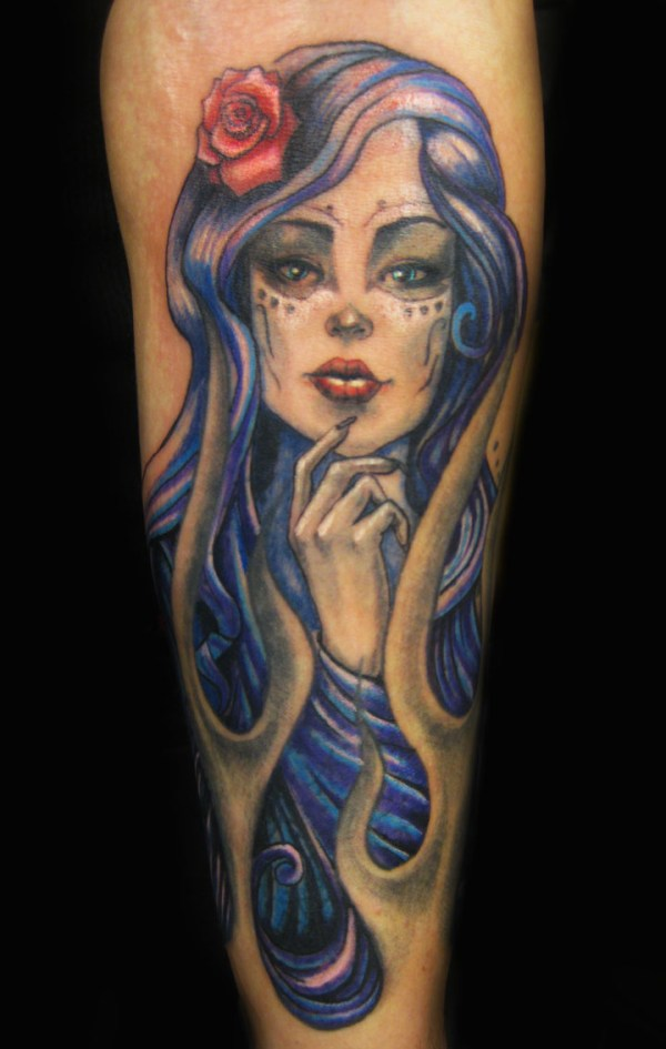 20 female tribute of the dead tattoos day ideas and designs