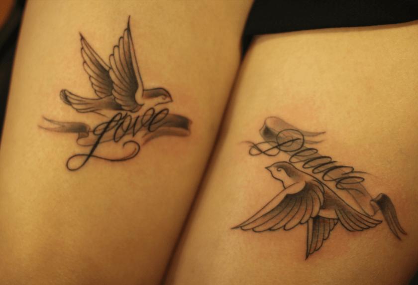 Dove Romantic tattoos