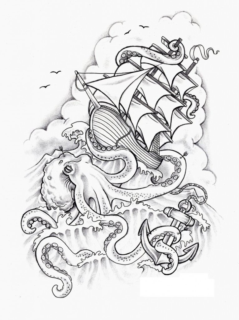 Wonderland Tattoo Black White