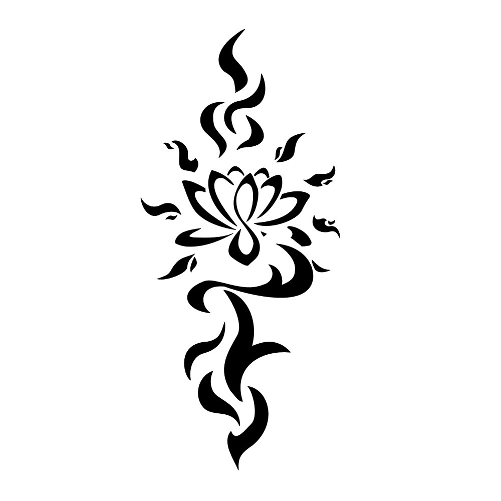 Tribal lotus flower tattoo meaning, traditional tattoo