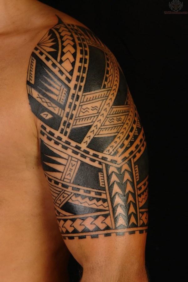 Polynesian Sleeve Tattoo Designs for Men