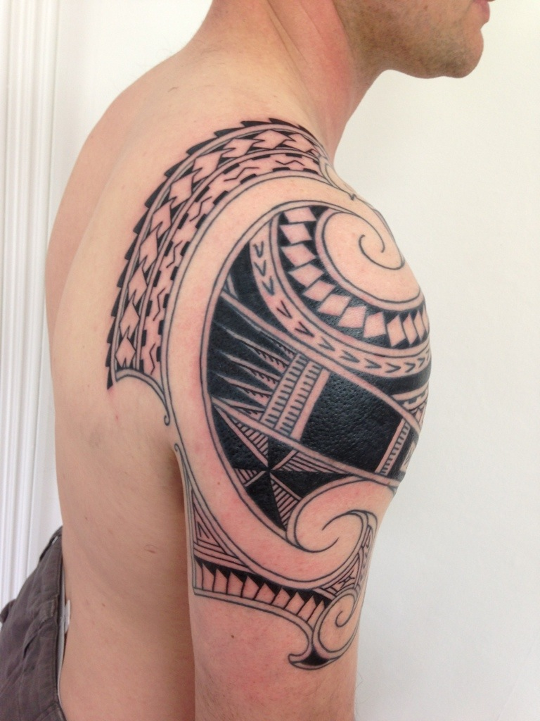 hawaiian forearm tattoo patterns