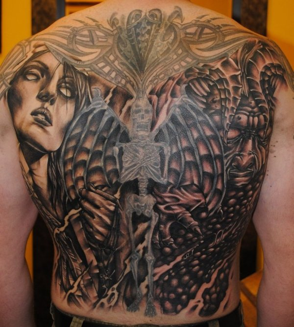 20 Angles And Demon Tattoos Ideas And Designs