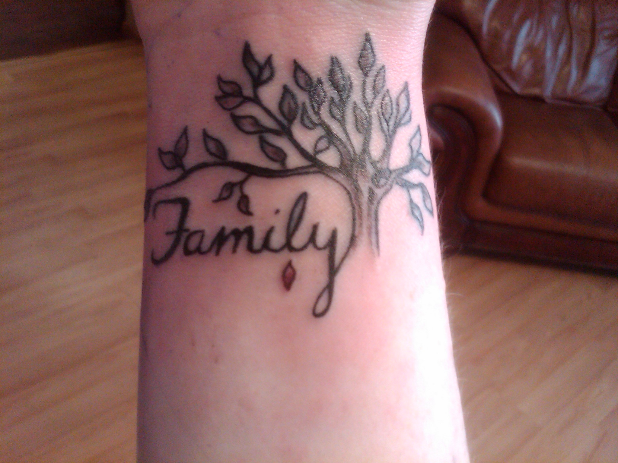 Small Family Tree Tattoo Designs