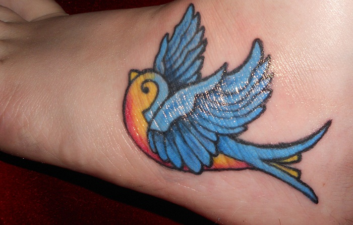 Happiness Bluebird Tattoo