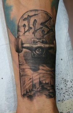 Skateboard Tattoos Designs Ideas and Meaning  Tattoos For You