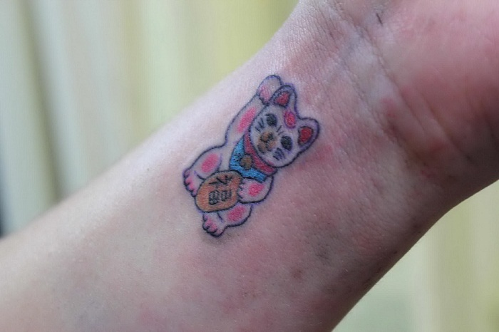 Lucky Cat Tattoos Designs Ideas and Meaning  Tattoos For You