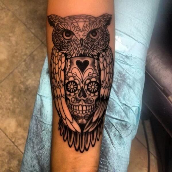 20 Colorful Owl Skull Tattoos For Women Ideas And Designs