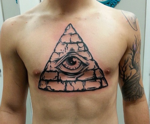 The gallery for gt Traditional Pyramid Eye Tattoo