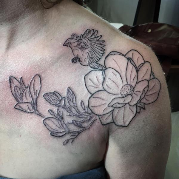 20 Magnolia Tree Tattoo Designs Pictures And Ideas On Meta Networks