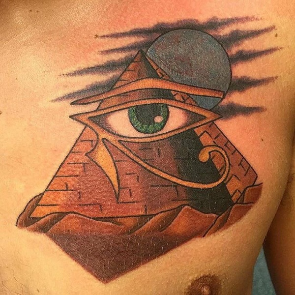 Eye Horus And Ra Tattoo