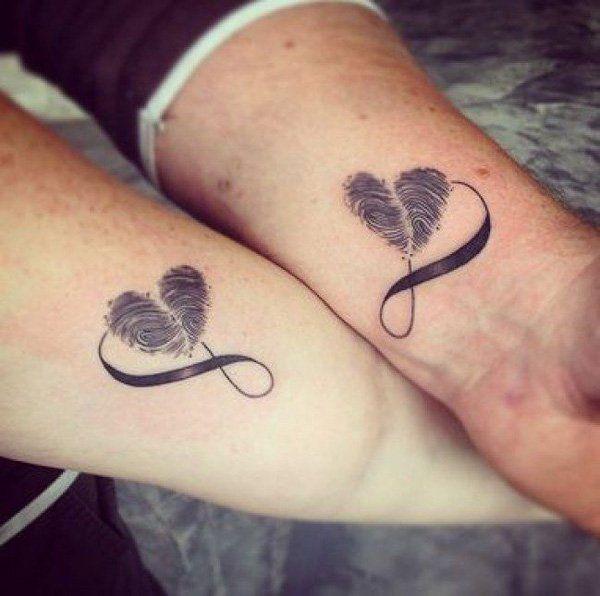 matching love tattoos design