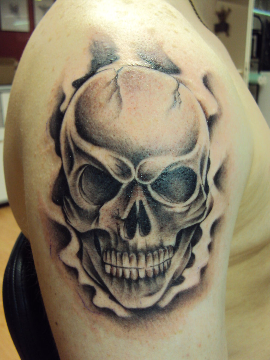 Skull Tattoo Drawings Men