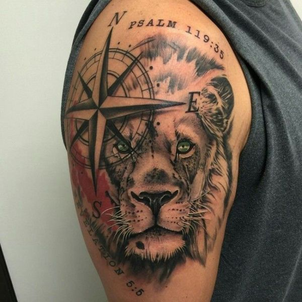 upper arm tattoos men design