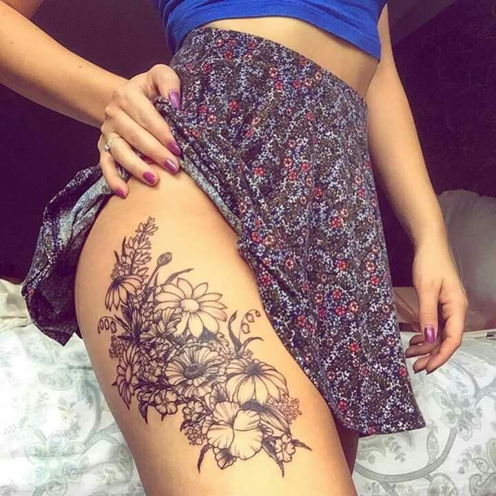 Image result for thigh tattoo inspiration