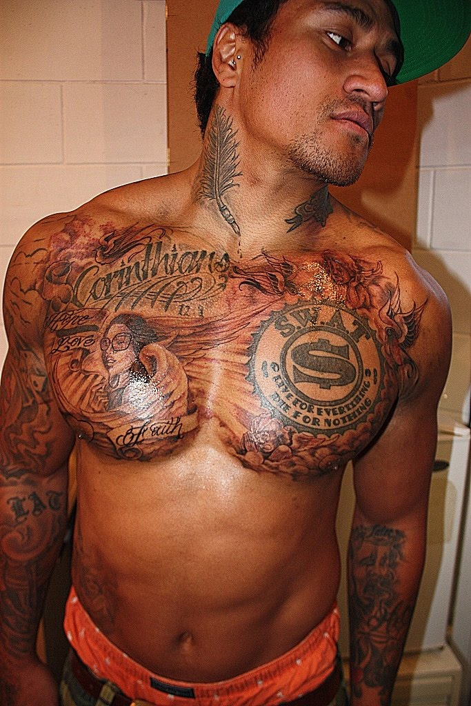 Gangster Tattoos Men