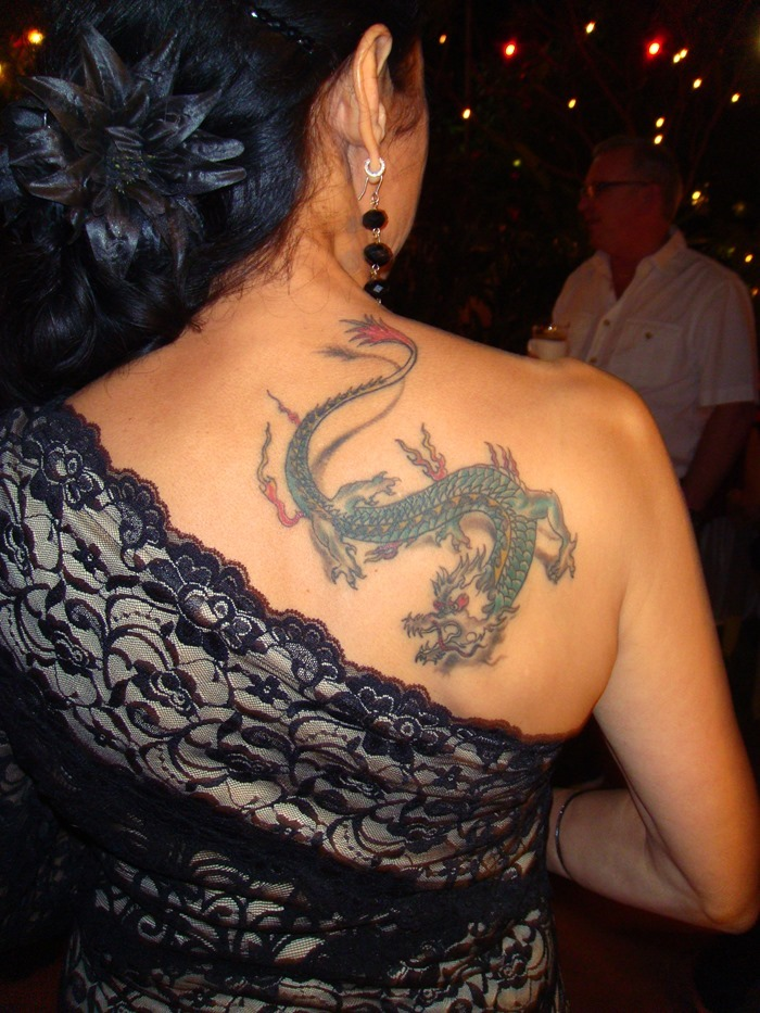Small Dragon Tattoos On Back