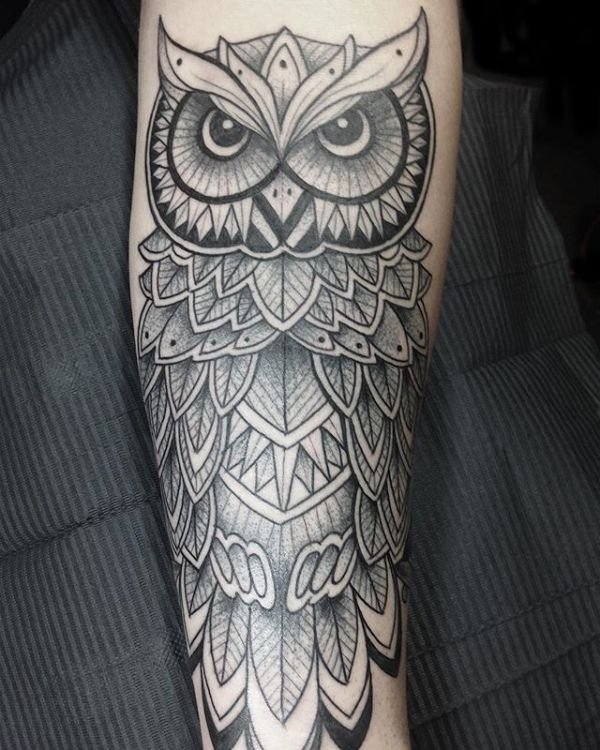 20 Owl Forearm Tattoos Stencils Ideas And Designs