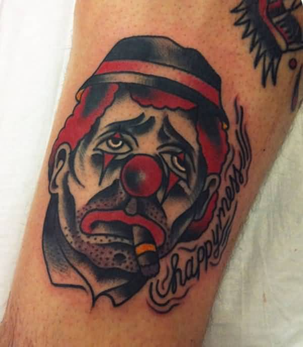20 Happy And Sad Clown Face Tattoos Ideas And Designs