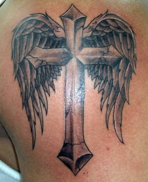 20 Cross And Wing Tattoos Ideas And Designs