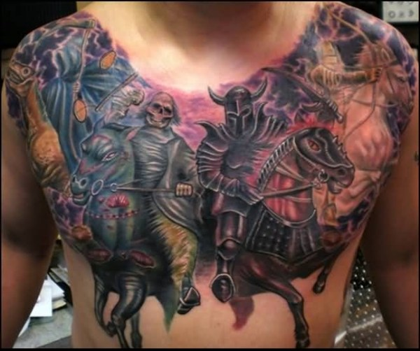 20 Skull Cover Up Chest Tattoos For Men Ideas And Designs