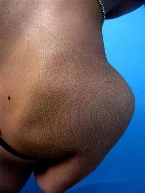 White Ink Tattoo On Dark Skin Tattoos Spot