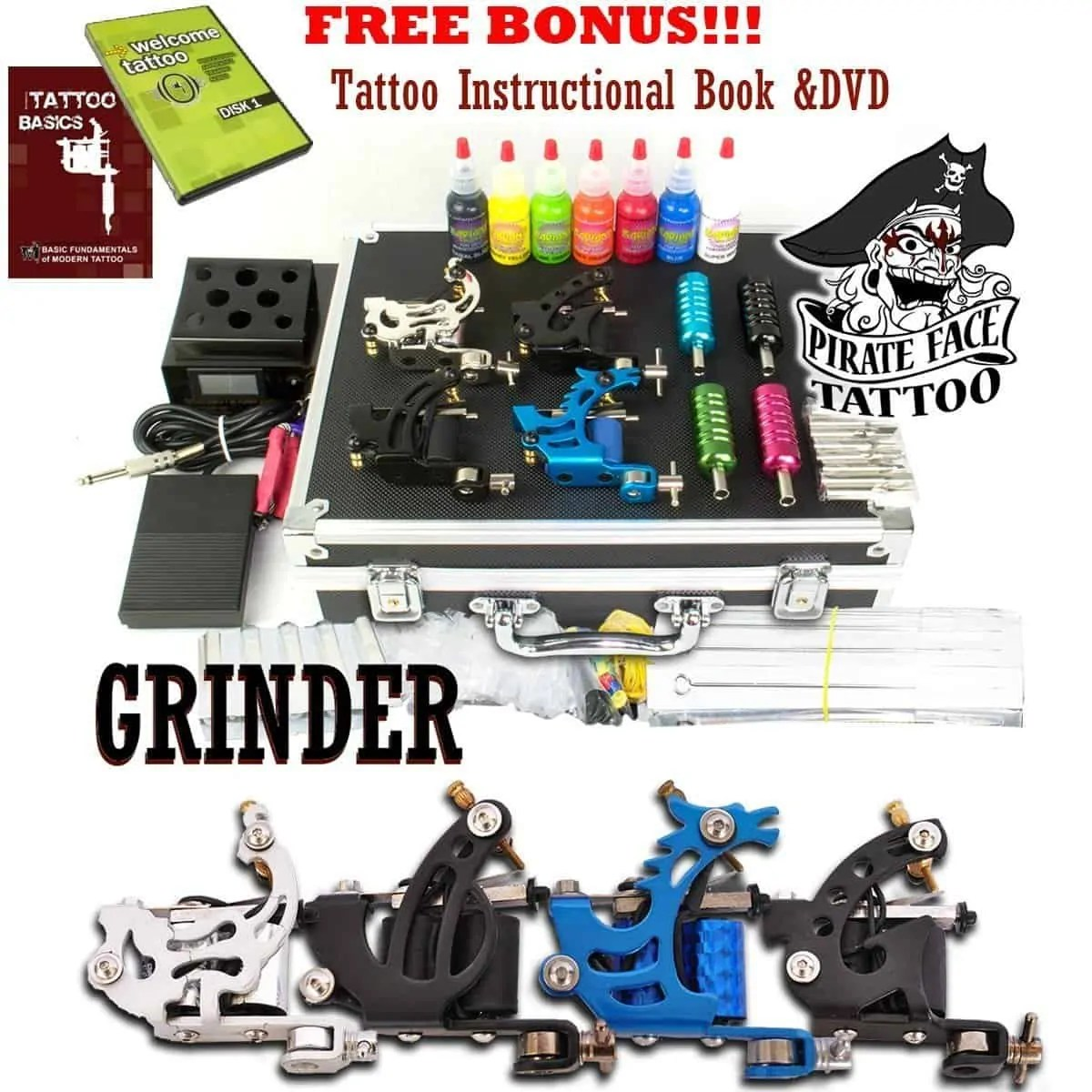Cheap Tattoo Kits Recommendation – Grinder Tattoo Kit Review