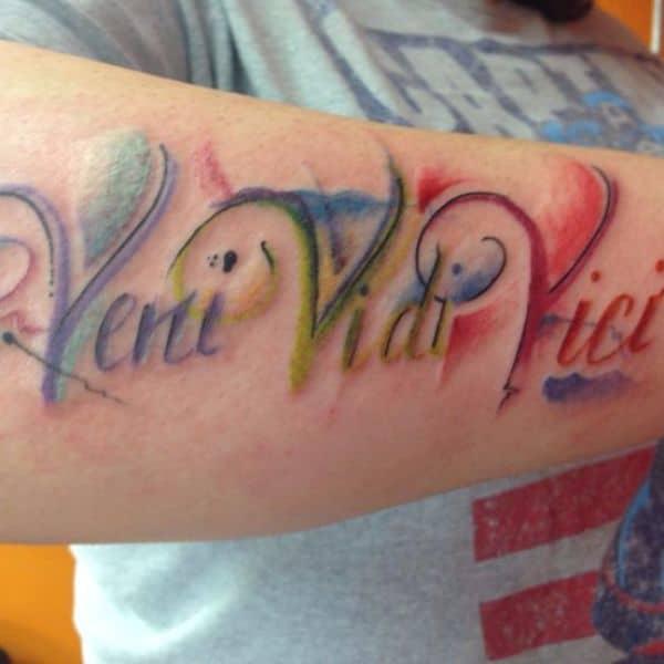 41 Veni Vidi Vici Tattoo Designs With Meaning Tattoos Spot