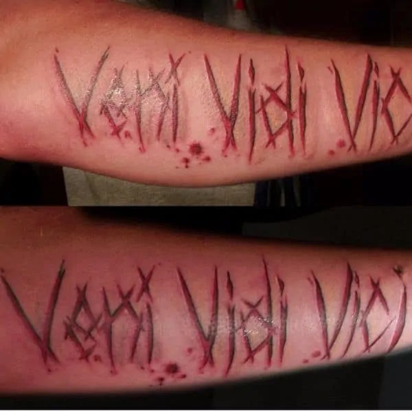slipknot veni vidi vici font tattoo idea