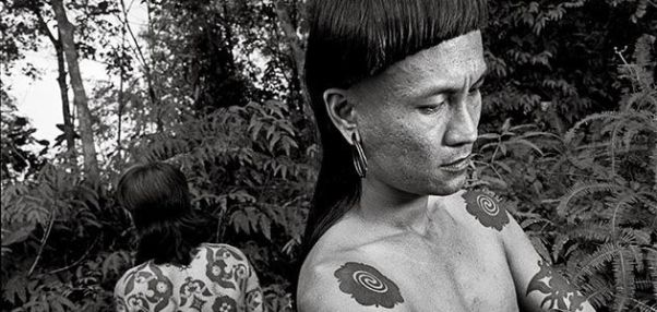 Traditional tattooing of tribe people