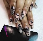 apply henna nails full