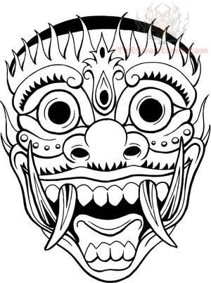 Mask Flash Tattoo Design